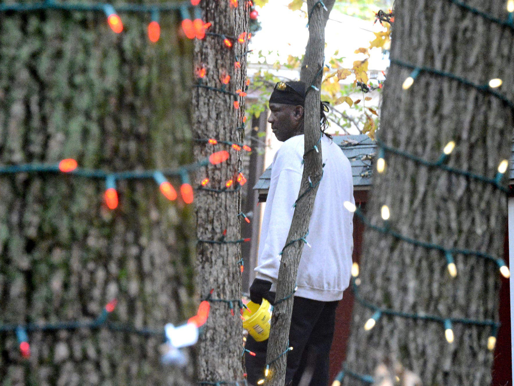 York County work release inmate Marty Hawk checks lights at Rocky Ridge Park, Monday, Oct. 29, 2018, while preparing for the Christmas Magic event. The event, featuring 600,000 lights along a half-mile trail, is in its 35th year. Christmas Magic runs daily from Nov. 23 through December 31. It is closed on Dec. 24 and 25. Hours for the event are Monday through Thursday, 6-9 p.m.; and Friday through Sunday, 5-9 p.m. Tickets will available online starting in early November, according to the department's website. Friday, Saturday and Sunday require pre-purchased ticket sales. Bill Kalina photo