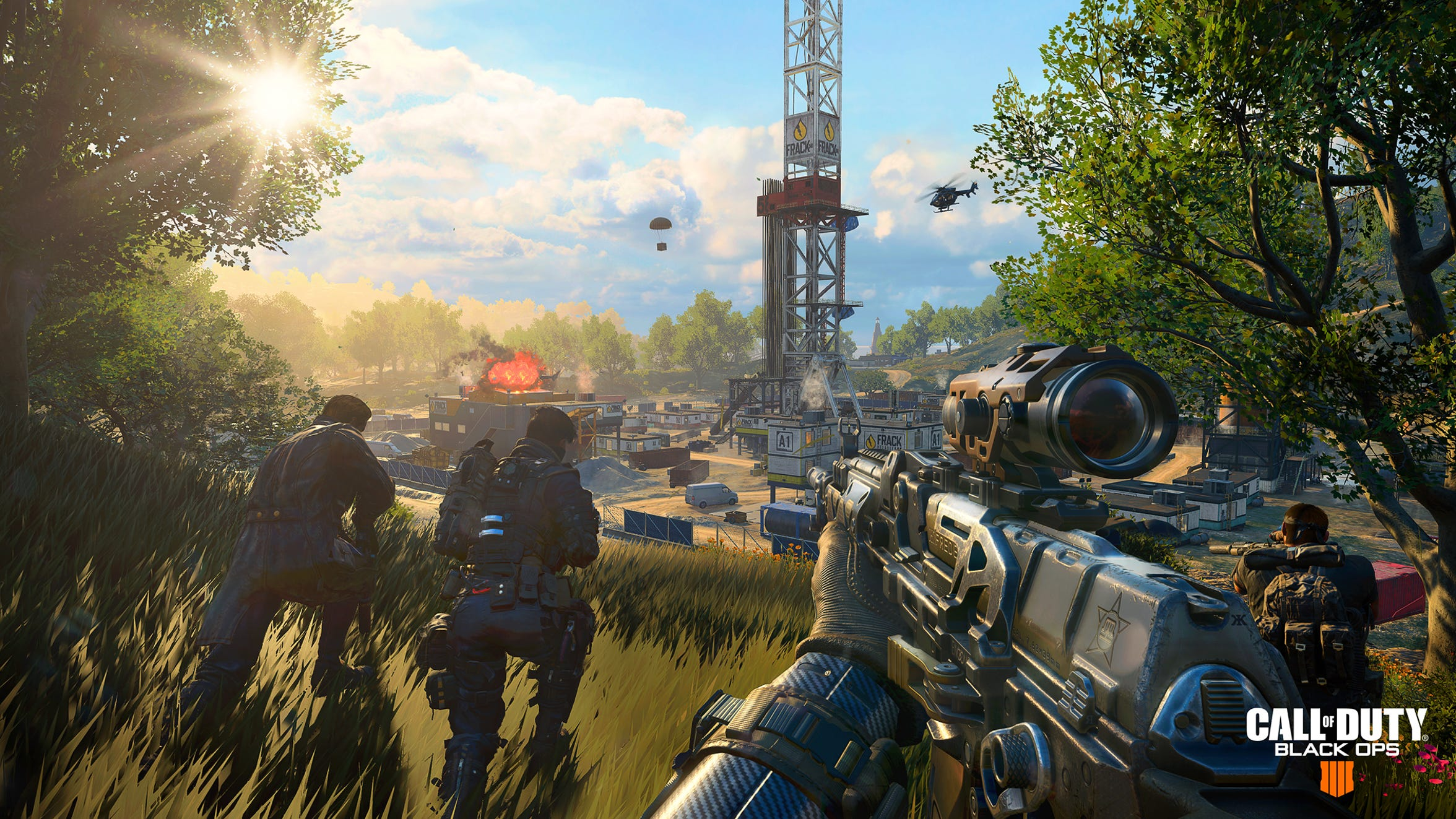 "The new Battle Royale ""Blackout"" mode in Call of Duty: Black Ops 4."