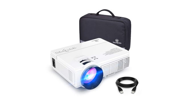 The Vankyo Leisure 3 portable projector.