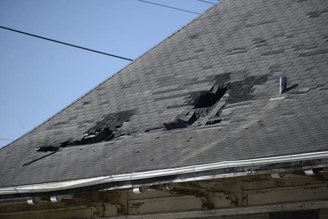 The first step in a plan to eventually make use of the former CSX Railroad depot on North Third Street in Richmond is to put a new roof on the building.