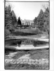 Fletcher Steele designed the sward and garden behind the Pittsford home of Richard and Nancy Turner off Clover Street.