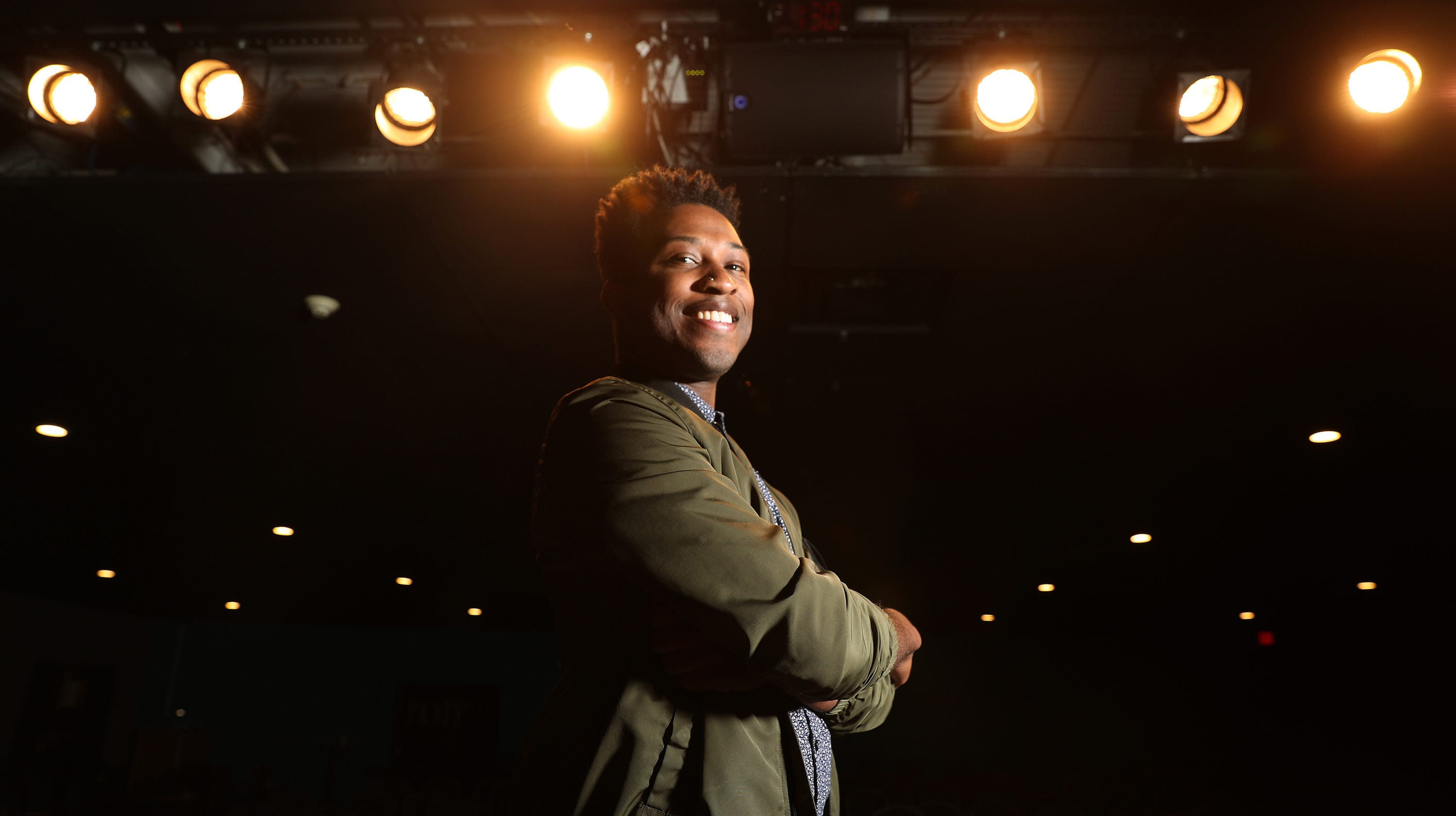 Comedian Malcolm Whitfield talks about race and wins over audiences