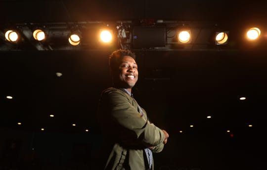 Local comedian Malcolm Whitfield at Comedy at the Carlson.