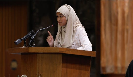 Samiha Islam, with the Islamic Center of Rochester, speaks about raising our voices against the hate, bigotry, violence and racial divides happening in our country.