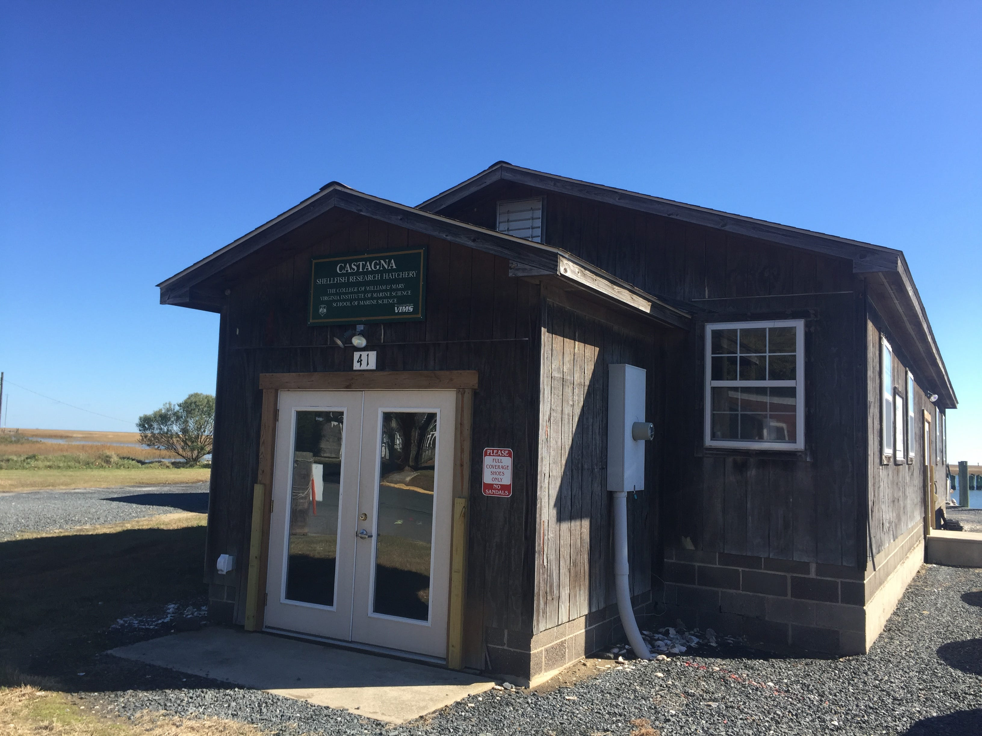 The Castagna Research Lab at VIMS-Eastern Shore Lab in Wachapreague, Virginia is one of the buildings that will be replaced in major construction announced in October 2018.