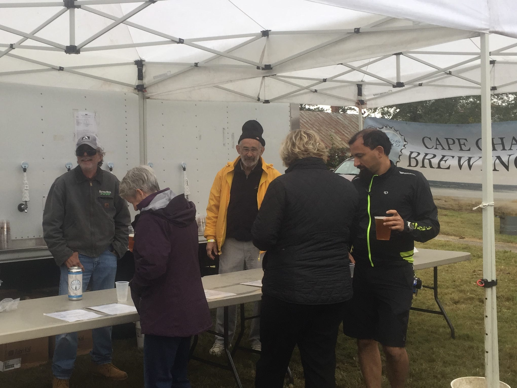 Cape Charles Brewing Co. offered several varieties of beer at the Bike & Brew event at the Historic Onancock School on Saturday, Oct. 27, 2018. The event, held following the CBES Bike Ride, highlighted the Eastern Shore of Virginia's two breweries, Black Narrows Brewing Co. and Cape Charles Brewing Co.