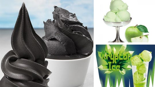 Halloween flavors roll out at Primo Gelato Cafe, including Charcoal, caramel apple ice and Kryptor Ice.