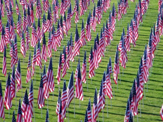 One Thousand Flags Over Mesquite, a tribute to the U.S. military and veterans, will be Nov. 4-11, 2018.