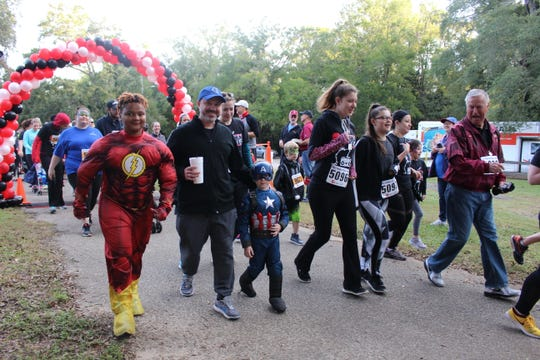 Hundreds participated in the RUN ELC event on Saturday. The event raised about $25,000 to help children and families in Gadsden, Liberty and other Big Bend counties devastated by Hurricane Michael.