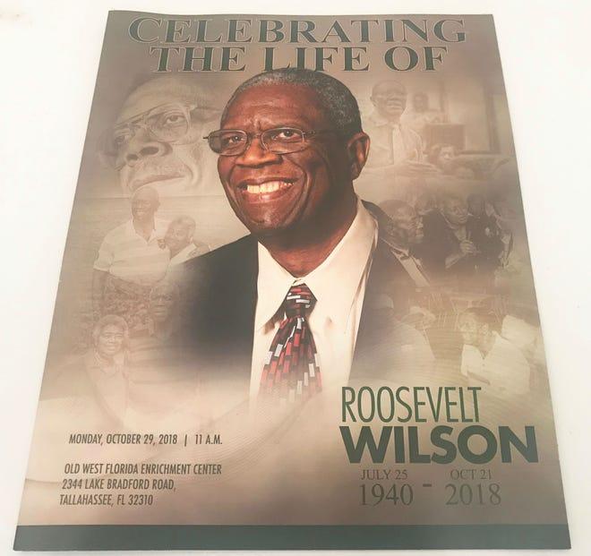 FAMU hero Roosevelt Wilson's funeral program.
