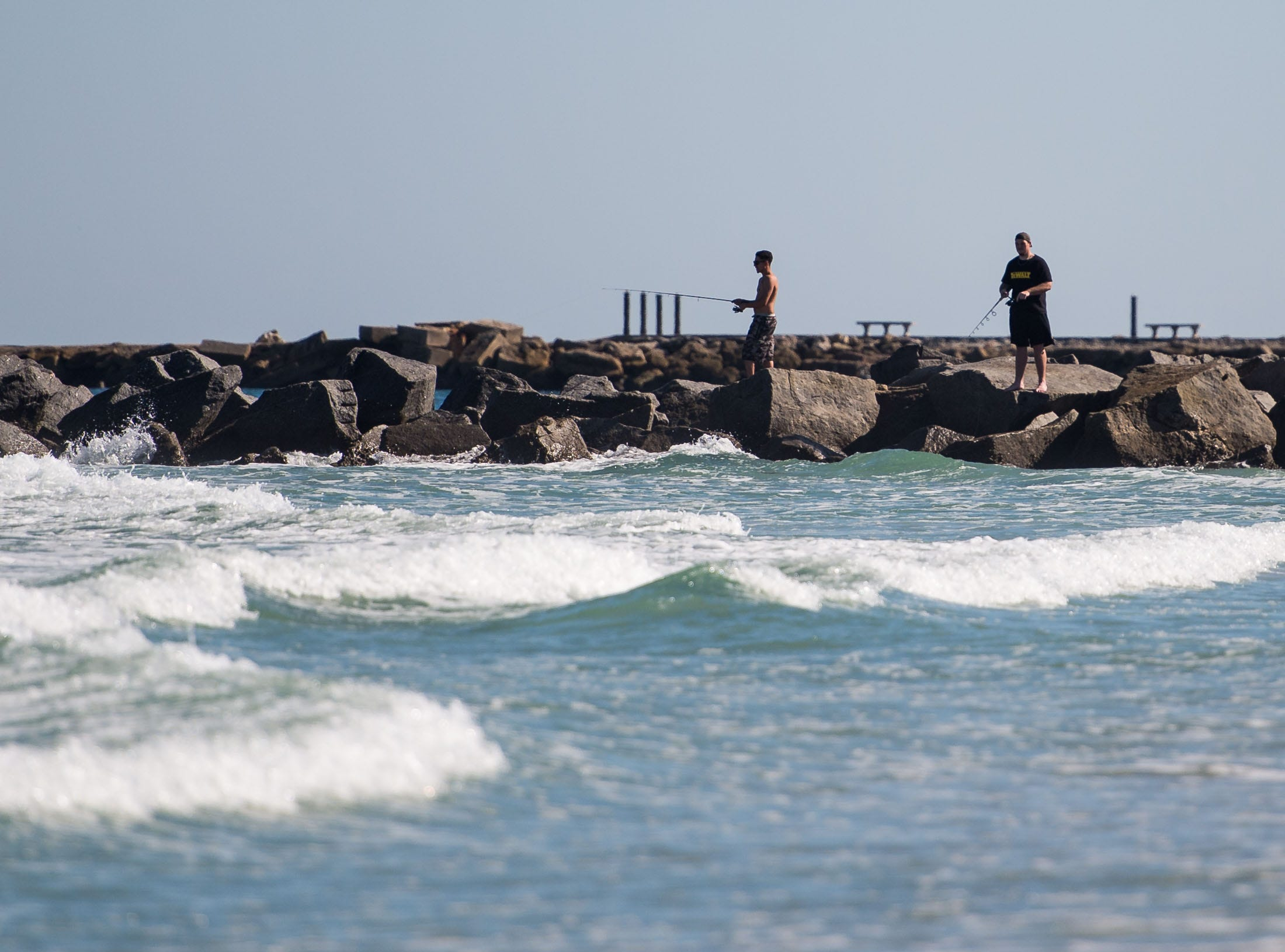 Fort Pierce Inlet State Park was open Monday, Oct. 29, 2018, while other beaches on North Hutchinson Island were in various stages of being re-opened after a cleanup of dead fish due to red tide in St. Lucie County.