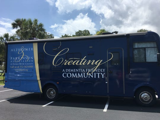 "The Dementia Friendly Community Initiative is made possible in part by a grant from Indian River Impact 100 to the Alzheimer & Parkinson Association, which was used to buy an RV, referred to as a ""rolling classroom."""