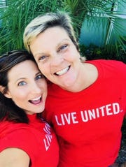 From left CCKids staff members Josie Kirchner and Christina Kaiser volunteer for the United Way of St. Lucie County's Day of Caring.