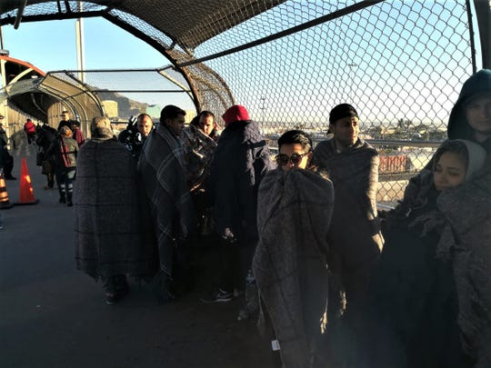 Migrants seeking political asylum have been sleeping on the Paso Del Norte Bridge connecting El Paso and Juarez, Mexico.