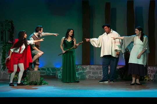 """The cast of """"Into the Woods"""" performs at Camarillo Skyway Playhouse through Nov. 18."""