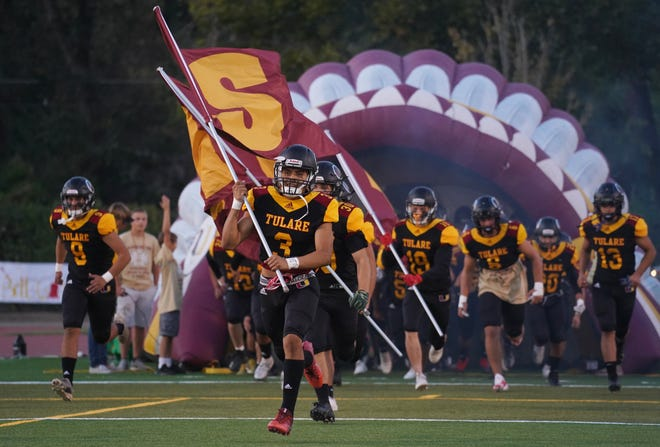 The Tulare Union High football team culminated the regular season with a perfect 10-0 record.
