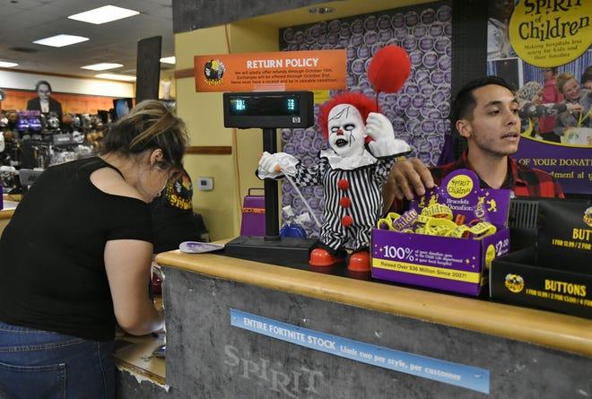 Ashley Alvarez took a trip to Spirit Halloween store on Monday. Alvarez was on the hunt for costumes for her three children.