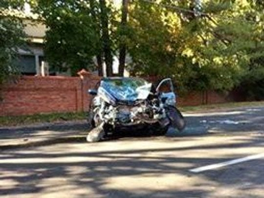 A car pursued by Ossining police struck and injured a Briarcliff officer on Oct. 19, 2016.
