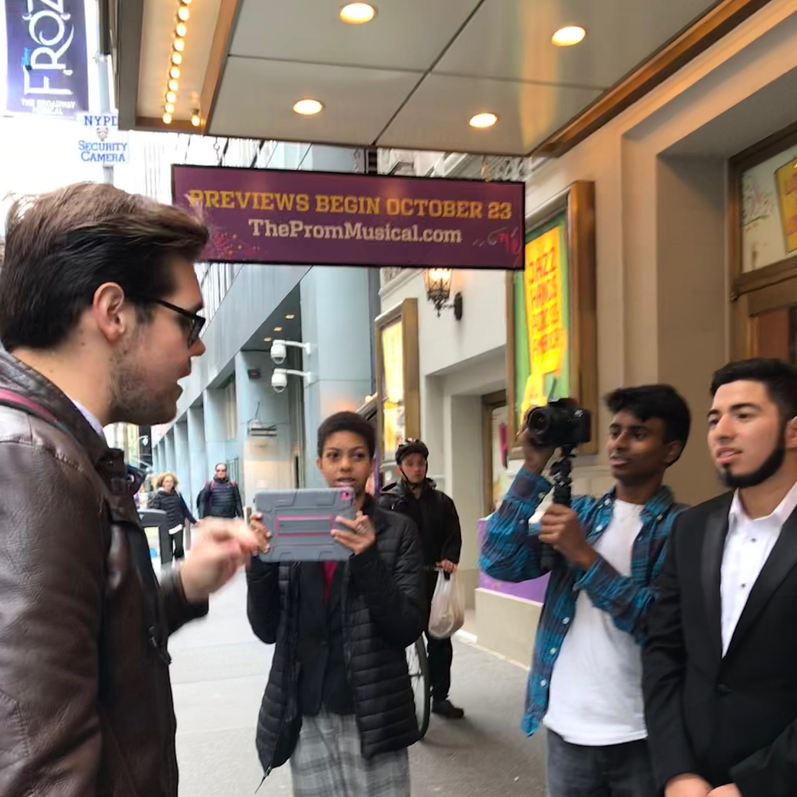 New Rochelle HS film students get behind-the-scenes look at Broadway's 'The Prom'