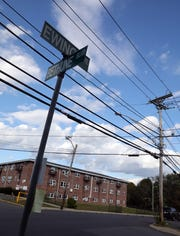The corner of Ewing Ave. and Bethune Blvd. on top of the hill in Spring Valley Oct. 16, 2018.