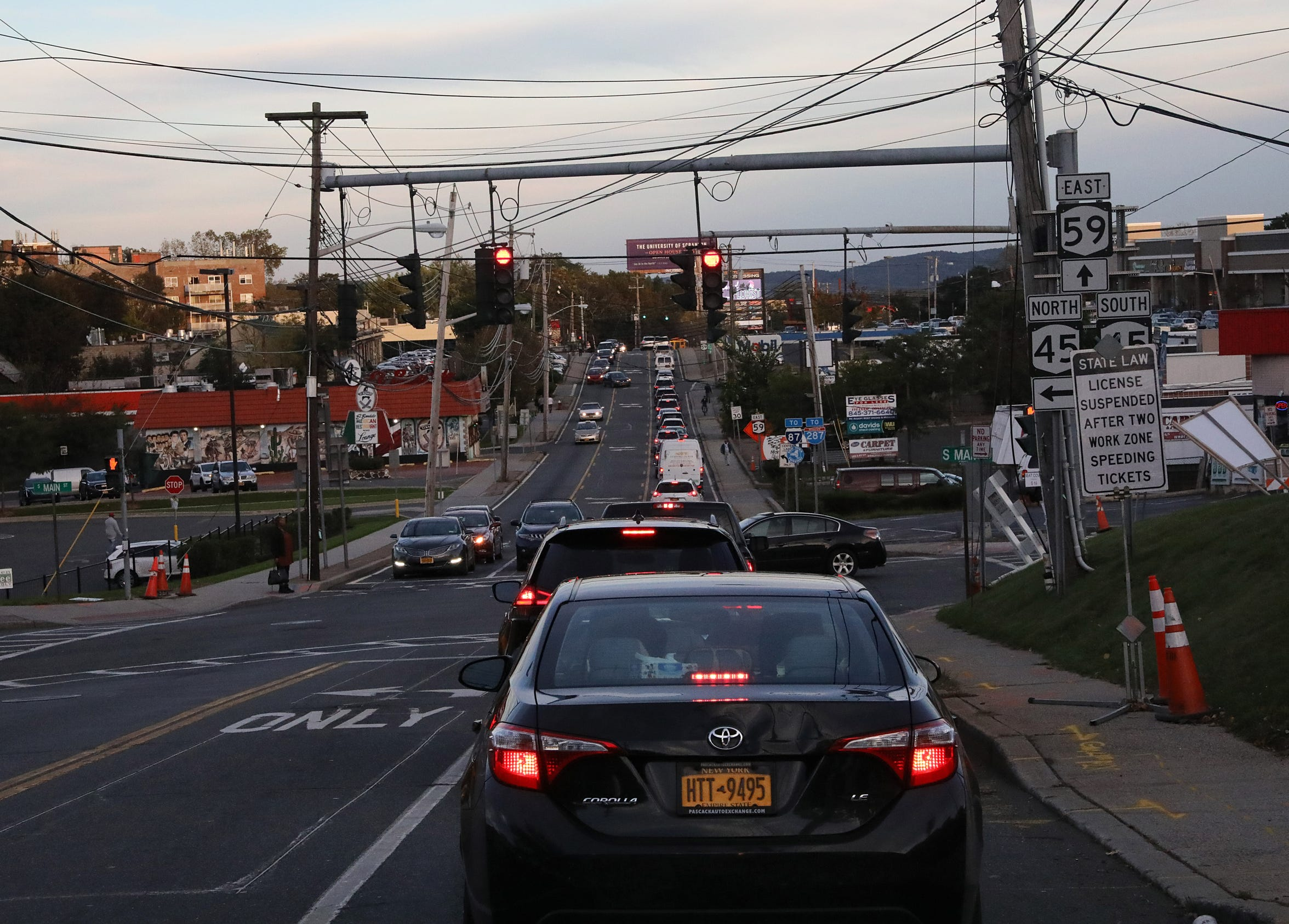 A view of Route 59 with shopping in Spring Valley Oct. 16, 2018.
