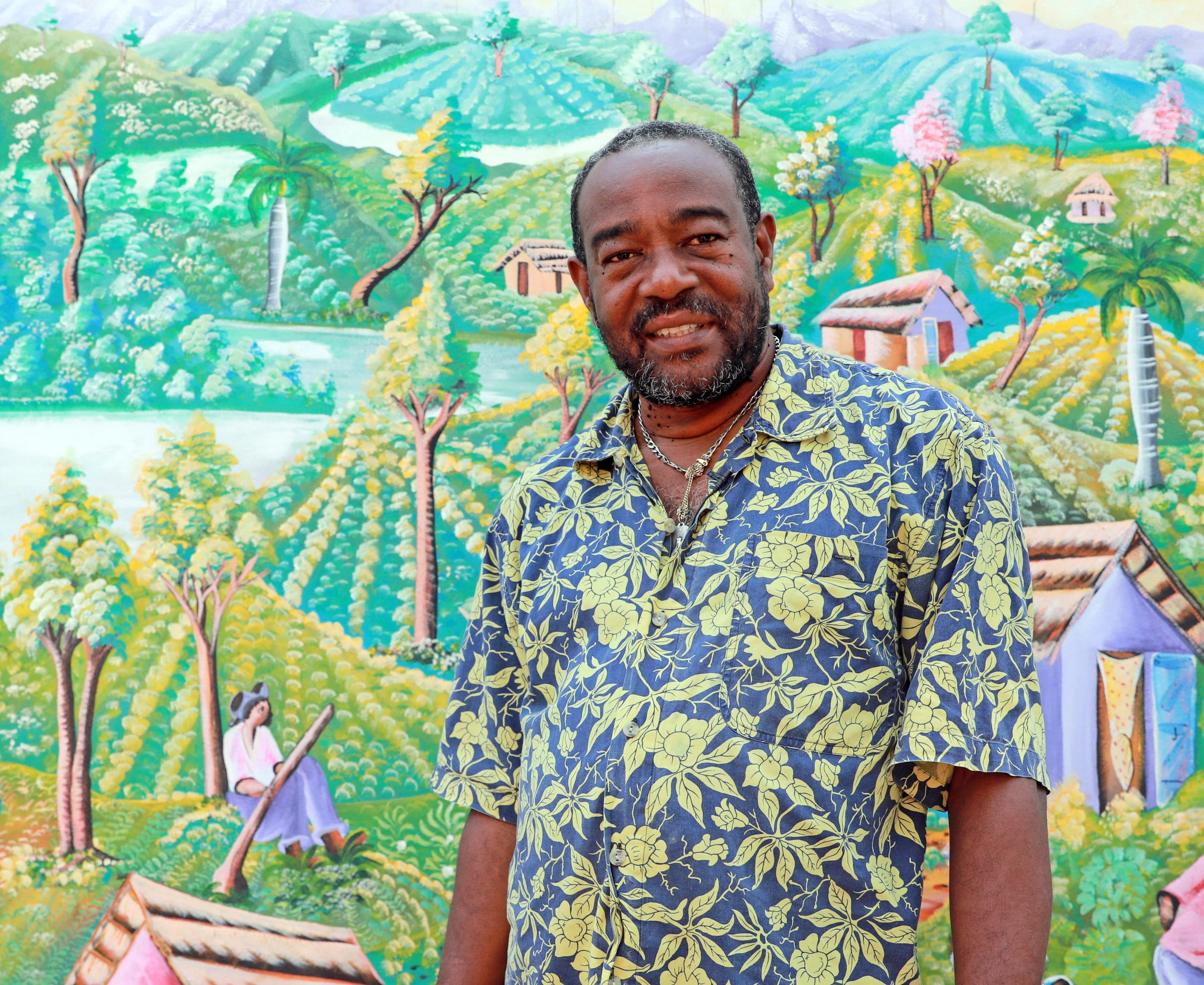 Renold Julien, who is the CEO of Konbit Neg Lakay Community Center talks about politics of the Haitian community in Spring Valley on Aug. 28, 2018.