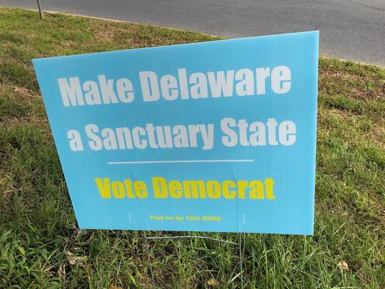 This campaign sign that appears to advocate for Democrats was paid for by Republicans.