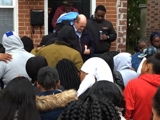 Sen. Chris Coons on Sunday attends a vigil for Sean Hammond, a 33-year-old Middletown man shot and killed in Wilmington.