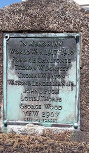 A World War I monument used to sit in a traffic oval on Brandywine Boulevard in Bellefonte. It was moved to a VFW Post.