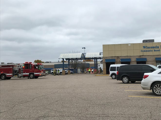 The Wisconsin Rapdis Fire Department responds to the Wisconsin Rapids Veterans Affairs Clinic about 11:30 a.m. Monday