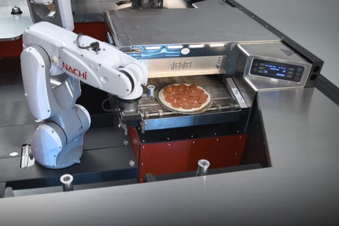 Pizza Hut to show a pie-making robot in a Toyota at SEMA auto show in Las Vegas