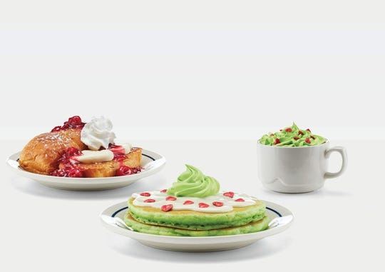 IHOP has a special Grinch menu through Dec. 31, complete with green pancakes.