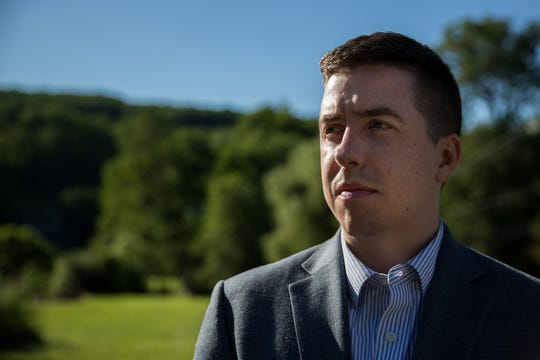Patrick Casey is executive director of Identity Evropa, a white-nationalist group that actively recruits on college campuses. The group distributes recruitment fliers, stickers and posters on campuses, which draws news media attention that further  spreads its message.