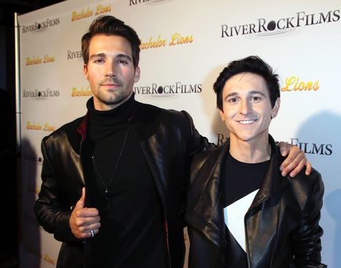 """Since """"Hannah Montana,"""" Musso (right) worked with Ashley Tisdale as a voice actor for """"Phineas and Ferb"""" and has made appearances in a couple of smaller films."""