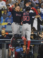 Mookie Betts and the Red Sox celebrated a huge season.