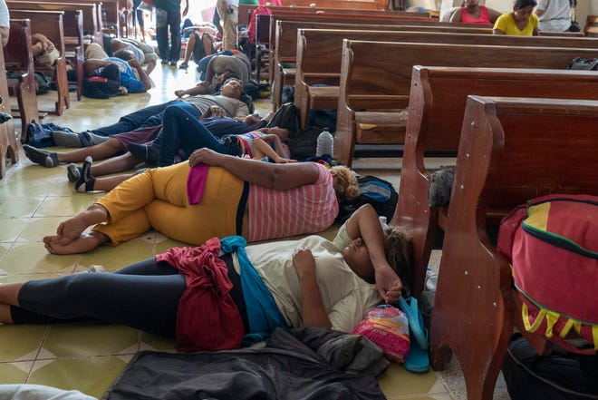 Central American migrants in Oaxaca, Mexico, on Oct. 27, 2018.