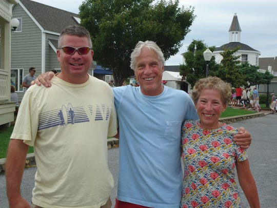 From left to right: Tim Gewert on left, the author Jeff Gewert, and sister Ellen Neary. September, 2015, in Montauk, New York.