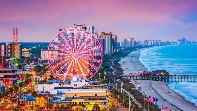 No. 10: Myrtle Beach, South Carolina. Thanksgiving trip cost: $1,213.50. Christmas trip cost: $1,161. During Thanksgiving, round-trip flights to Myrtle Beach are the fifth-most expensive of all the destinations in this study, with an average cost of $473.50. You're better off visiting the beach city during the spring — it's one of the most affordable spring break destinations in the U.S.