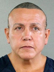 Cesar Sayoc, 56, is seen in an undated booking photo.