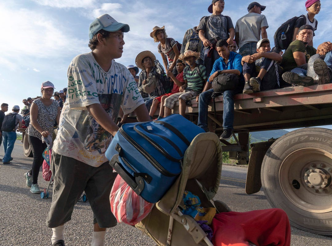 Migrants have more than 30 miles to go before reaching their destination in Santiago Niltepec in the state of Oaxaca.