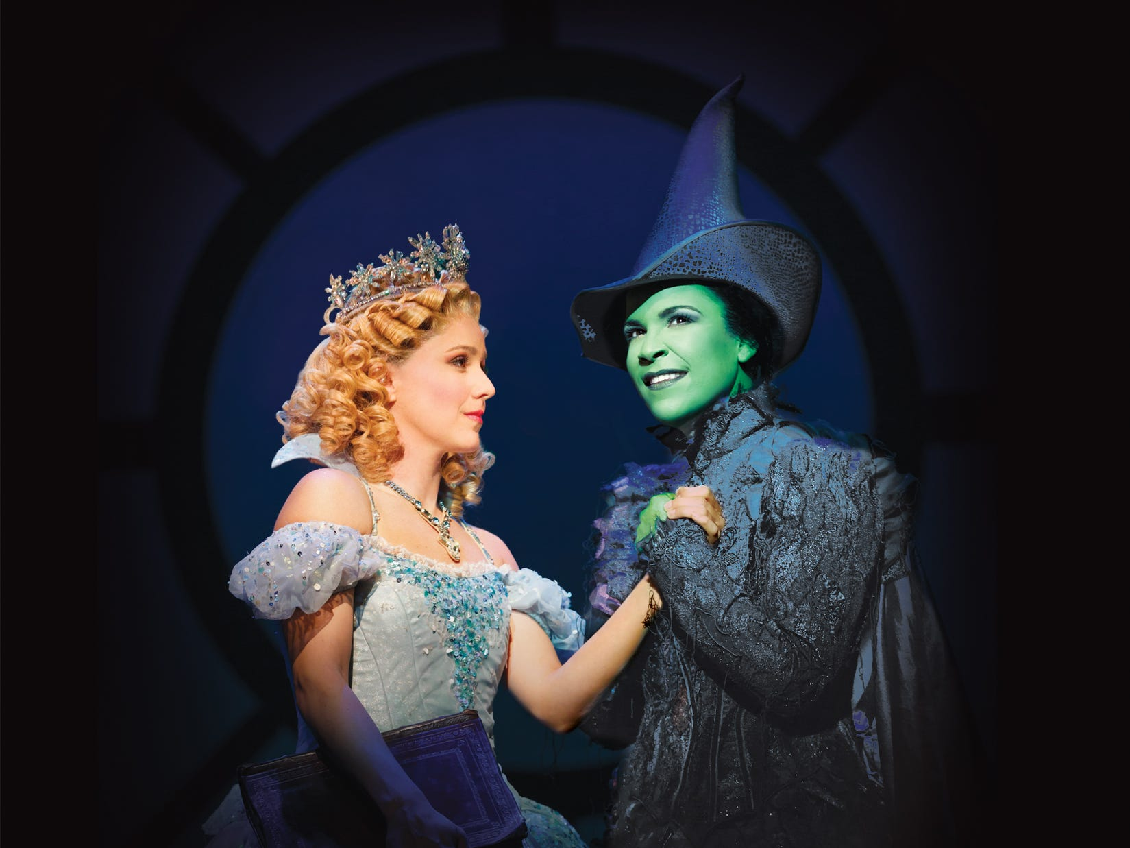 Alli Mauzey, left and Lindsay Mendez in WICKED on Broadway.  HANDOUT Photo by Joan Marcus