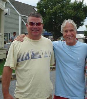 Tim Gewert, left, and Jeff Gewert. September, 2015, in Montauk, New York.