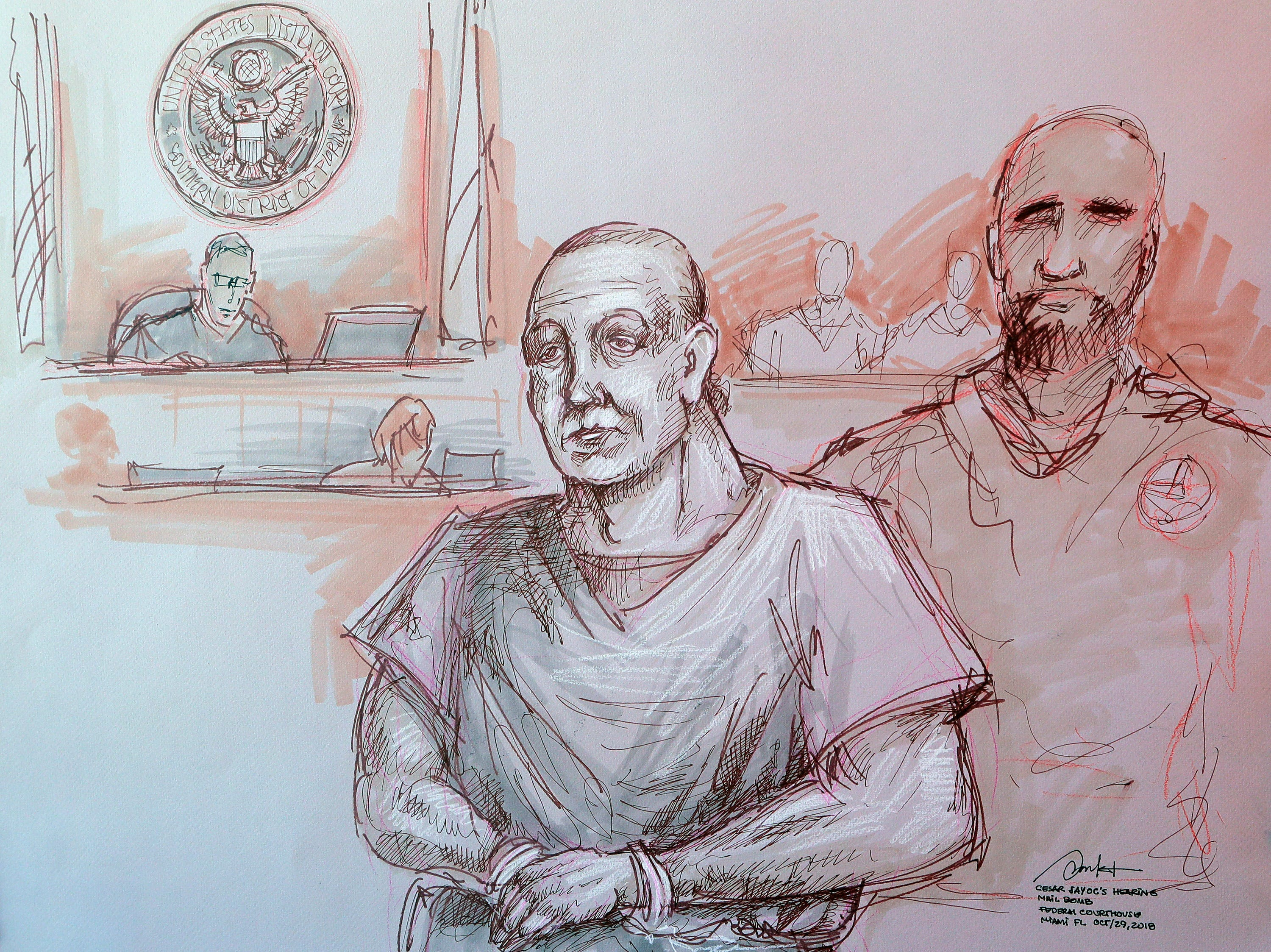 Pipe bomb suspect Cesar Sayoc indicted; charged with using 'weapon of mass destruction'