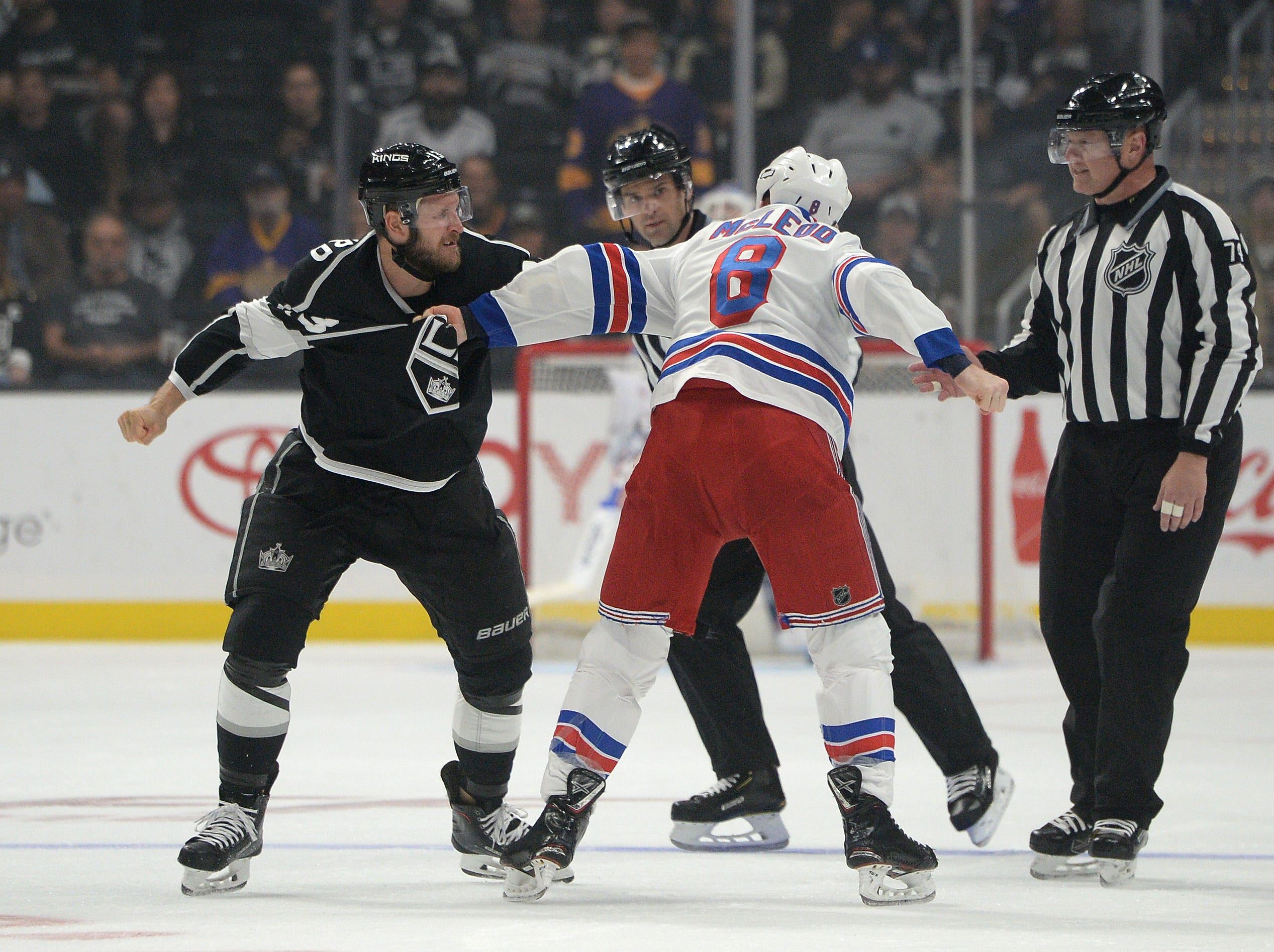 Oct. 28: Los Angeles Kings' Kyle Clifford vs. New York Rangers' Cody McLeod.