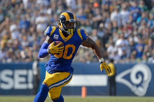 Usp Nfl Green Bay Packers At Los Angeles Rams S Fbn Lar Gb Usa Ca. Rams running  back Todd Gurley ... b50e3d60a