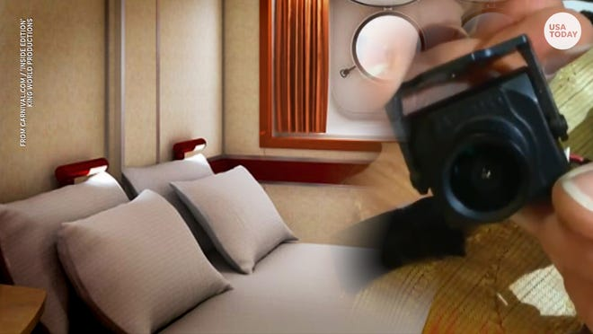 Couple claims secret camera was aimed at bed on Carnival Cruise