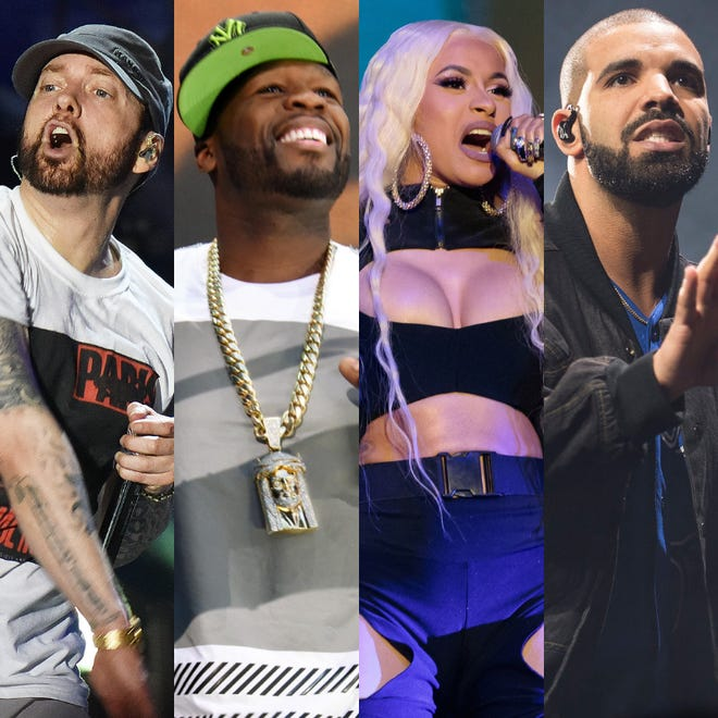 Eminem, 50 Cent, Cardi B and Drake all had a messier 2018 than most.