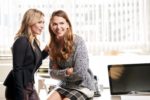 """Later, Duff had a recurring role on &quot;Gossip Girl&quot; in 2009 and continued with a singing career before landing a co-starring role on &quot;Younger&quot; alongside Sutton Foster (right). She gave birth to her first child, Luca, in 2012 with her now ex-husband, NHL player Mike Comrie. She and husband Matthew Koma welcomed a baby girl, Banks, in 2018.&nbsp;<br /> <br /> After previously announcing a highly-anticipated &quot;Lizzie&quot; reboot, Duff shared in 2020 that the <a href=""""https://www.usatoday.com/story/entertainment/tv/2020/12/16/hilary-duff-says-lizzie-mcguire-reboot-isnt-going-happen/3931170001/"""" target=""""_blank"""">new show was no longer going to happen</a>. &quot;I&rsquo;m very sad, but I promise everyone tried their best and the stars just didn&rsquo;t align,&quot; she told fans.&nbsp;"""