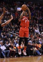 Toronto Raptors guard Kyle Lowry.