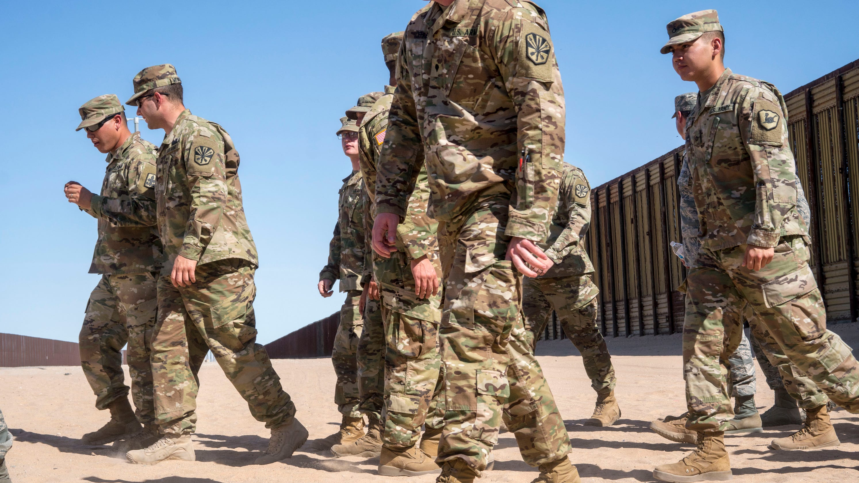 Image result for photos of us troops at us southern border